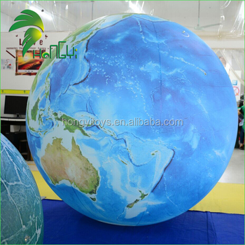 Led Illuminated Crowd Earth Ball / Inflatable LED Light Earth Shape Balloon for Party And Concert