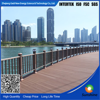 plastic decking made in China wpc decking Brown Bracket type Trit wood plastic compsite outdoor flooring