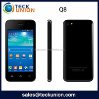 Made in china 4inch android 3G smartphone Q8 MTK6572 dual core dual camera