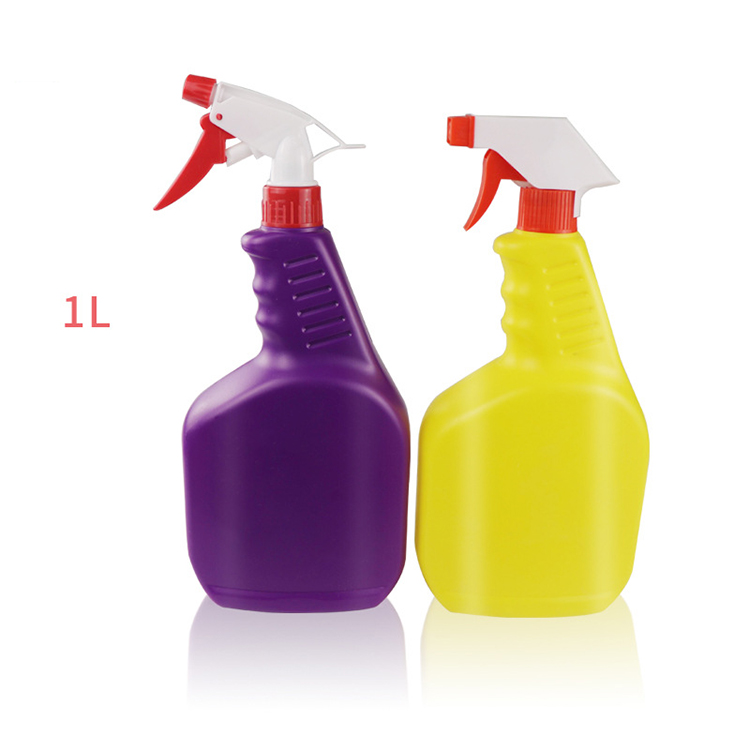 china suppliers wholesale green trigger <strong>spray</strong> cleaning plastic HDPE bottle 1000ml