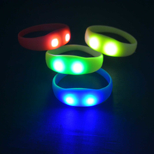 Night Run Motion Activated Light up Controllable Concert LED Silicone Glow Bangle Bracelet Concert Wristband for sale