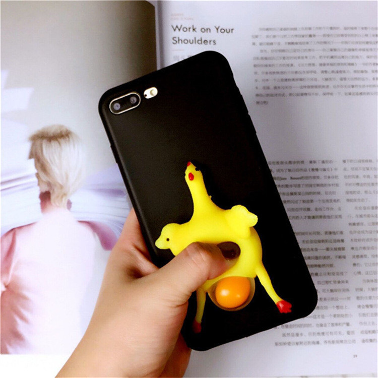 OEM ODM Factoy China Cute Squishy 3D kawaii squishy toys silicone mobile phone case