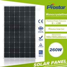 high quality mono silicon photovoltaic panel 260w mono solar module