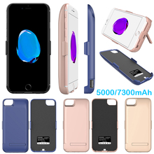 N1 Idealforce 5000/7300mAh External Power bank Pack back battery Charger Case Cover For phone 6 6s 7 7 Plus with USB date line