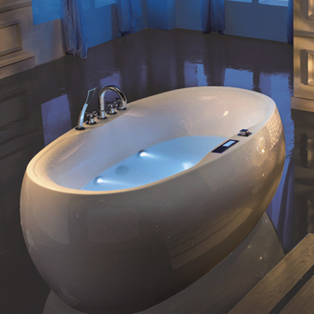 egg shape freestanding tub 1.8m massage bathtub air jetted baths