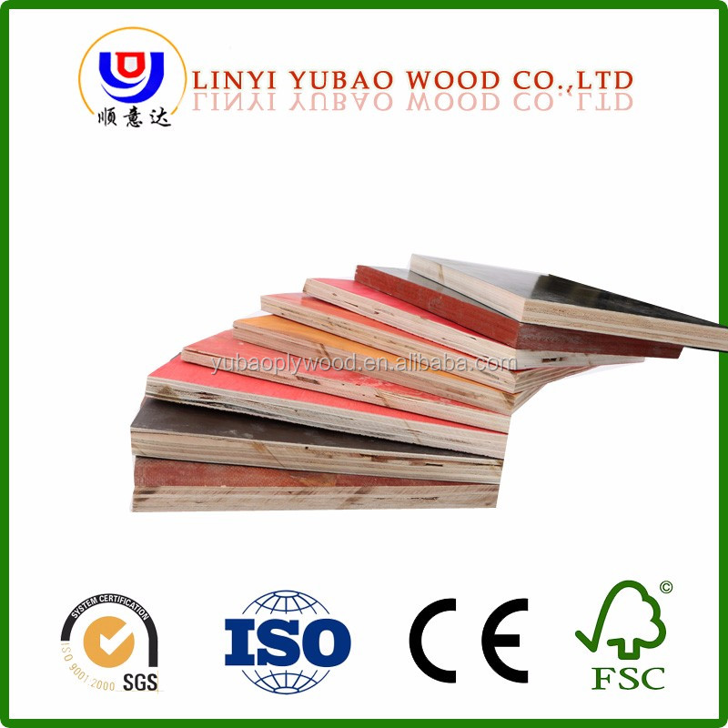 E0 E1 Formaldehyde Emission Standards and Poplar Main Material Film faced plywood