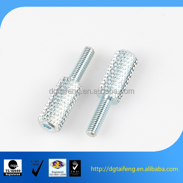 Zinc plated six lobe socket machine knurled bolts