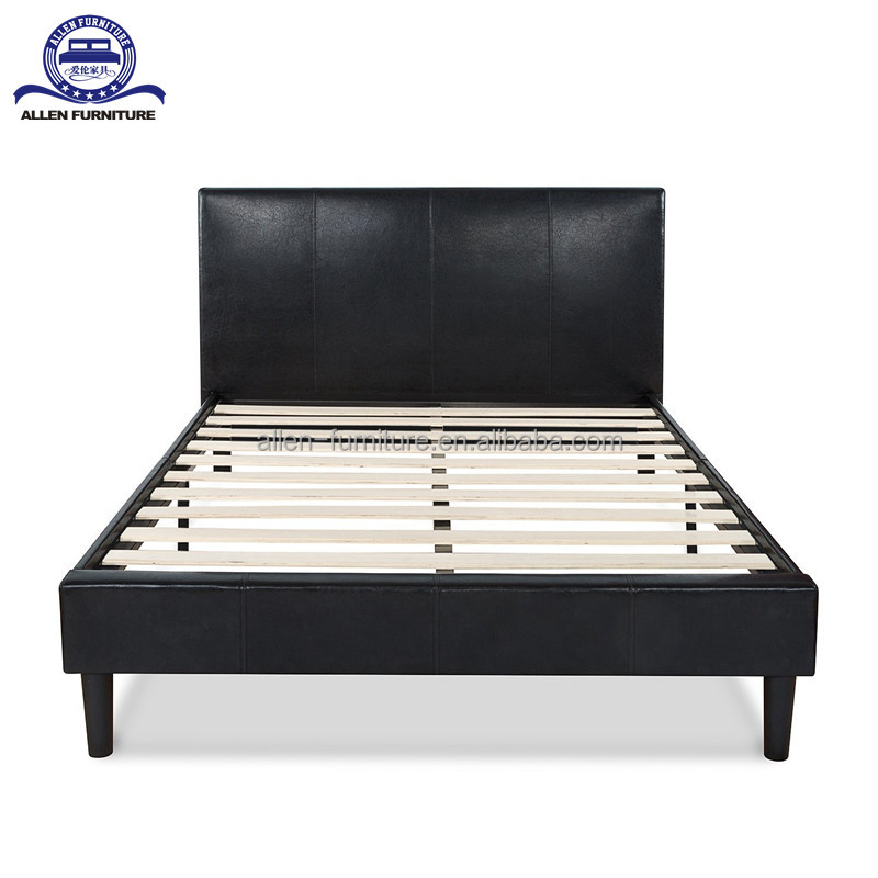 Bed furniture latest design high quality leather upholstered bed