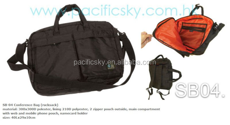 Hot Sale Multifunction 2 Tone Color Nylon Laptop carry Rusksack