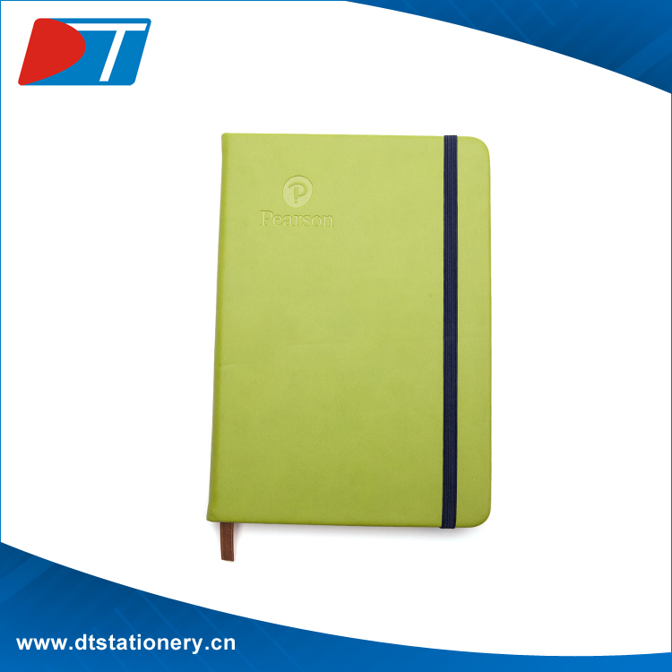 A5 custom Leather Notebook with elastic band