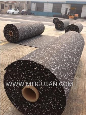 12mm interlocking Rubber Gym Flooring tiles