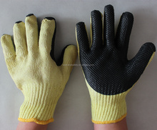 7G Hand Protective Construction Thick Latex Rubber Coated Work Gloves