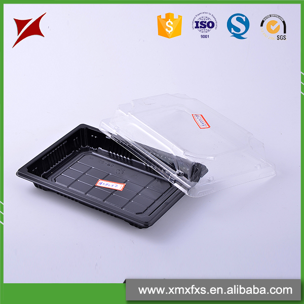 Chinese style solid black blister plate disposable sushi package