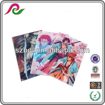 Colorful PP fashion file folders in Shenzhen China