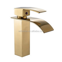 Gold waterfall mixers and taps for outdoor faucet