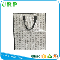 Lasted design big space pp woven plastic bag with zipper