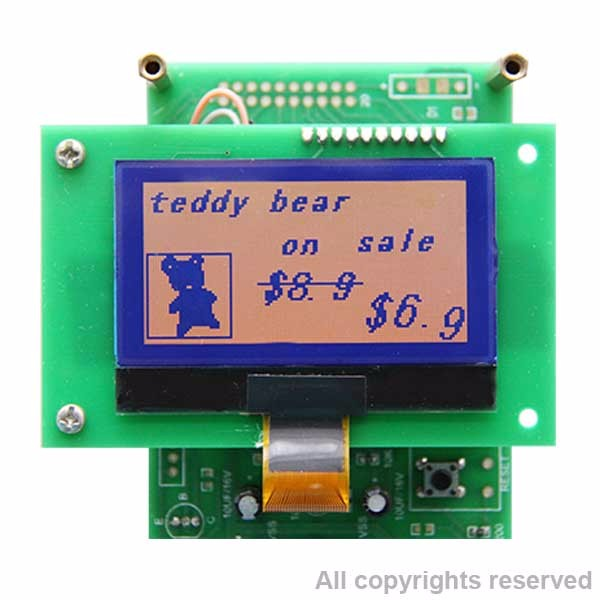 12848 LCD graphic Electronic Shelf Label(esl) epaper display,esl epaper