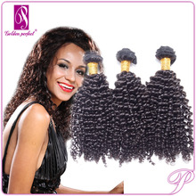 Tangle free kinky twists hair cheap virgin unprocessed malaysian kinky curl sew in hair weave