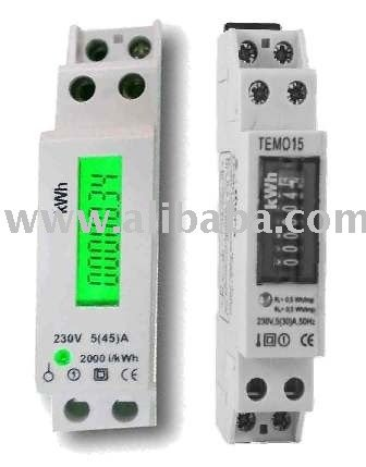1-Phase DIN-rail Electronic / Digital kWh Meter