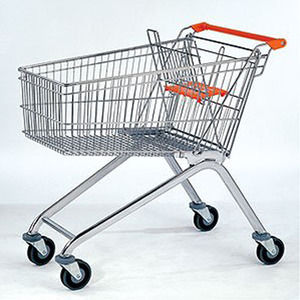 125L Europe Supermarket Shopping Carts folding shopping cart