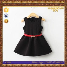new style space cotton sleeveless flower party black red girls tutu dress
