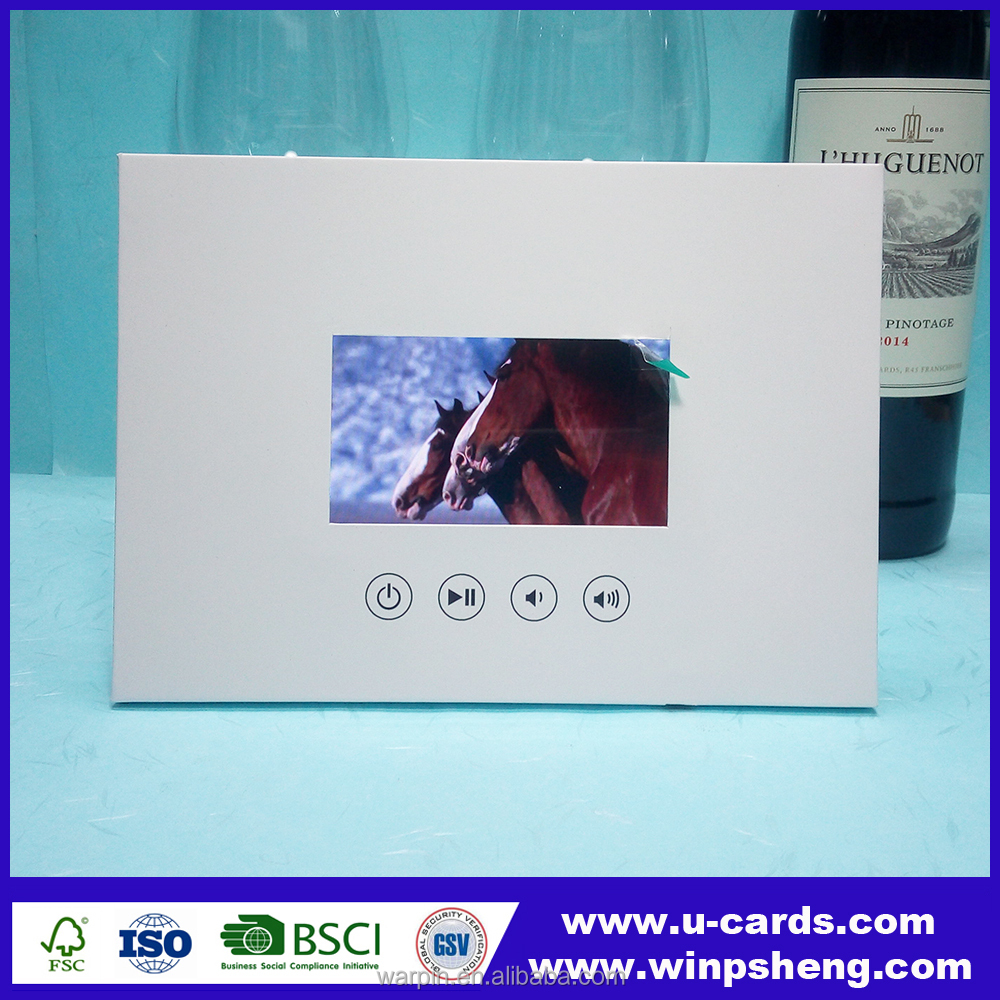 digital video player greeting card /video brochure for christmas gift