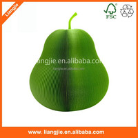 3D pear apple Orange shape sticky notes with Paper clip