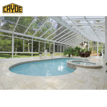 luxurious aluminum sun room glass houses for swimming pool