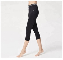 Low MOQ Miqi Apparel Manufacturer Own Logo Womens Dry Fit Legging Fitness Sport Jacquard Elastic Leggings