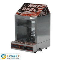 2015 hot selling hot dog display warmer steamer with hot dog broiler (SUNRRY SY-WD65)