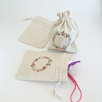 Colorful fashion cotton seed packing bags with string