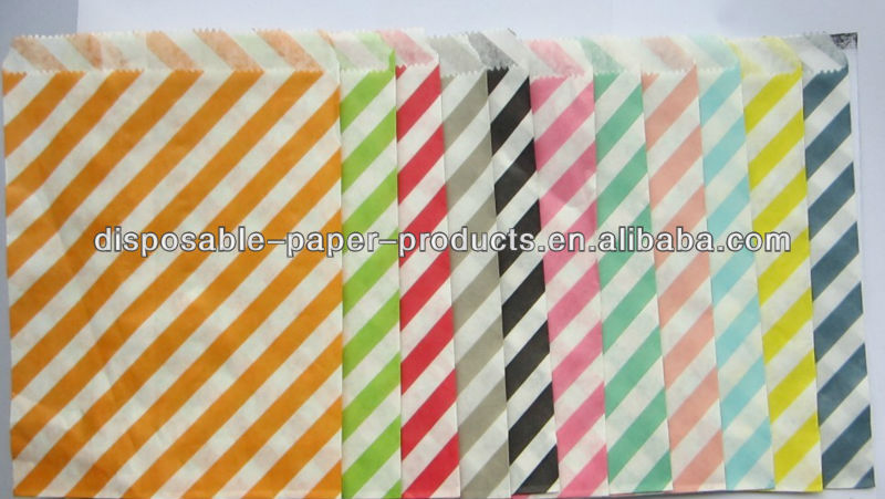 RaiNBoW PaCK MeDiUM Chevron,stripes, and polka dot PaPER BAGs---party favors--gifts---weddings--showers