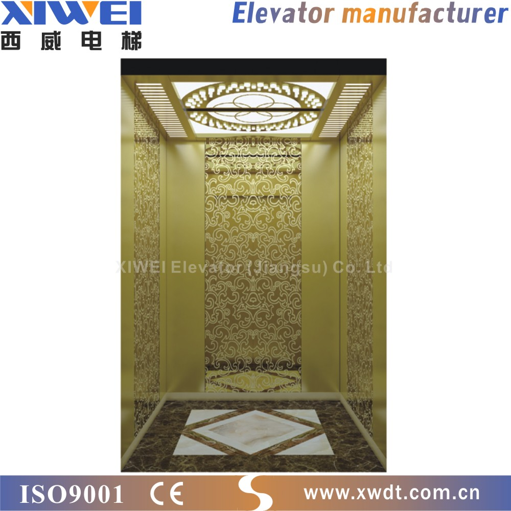 Professional Manufacturer Photocell Protection Gearless Machine Roomless Passenger Lift And Elevator