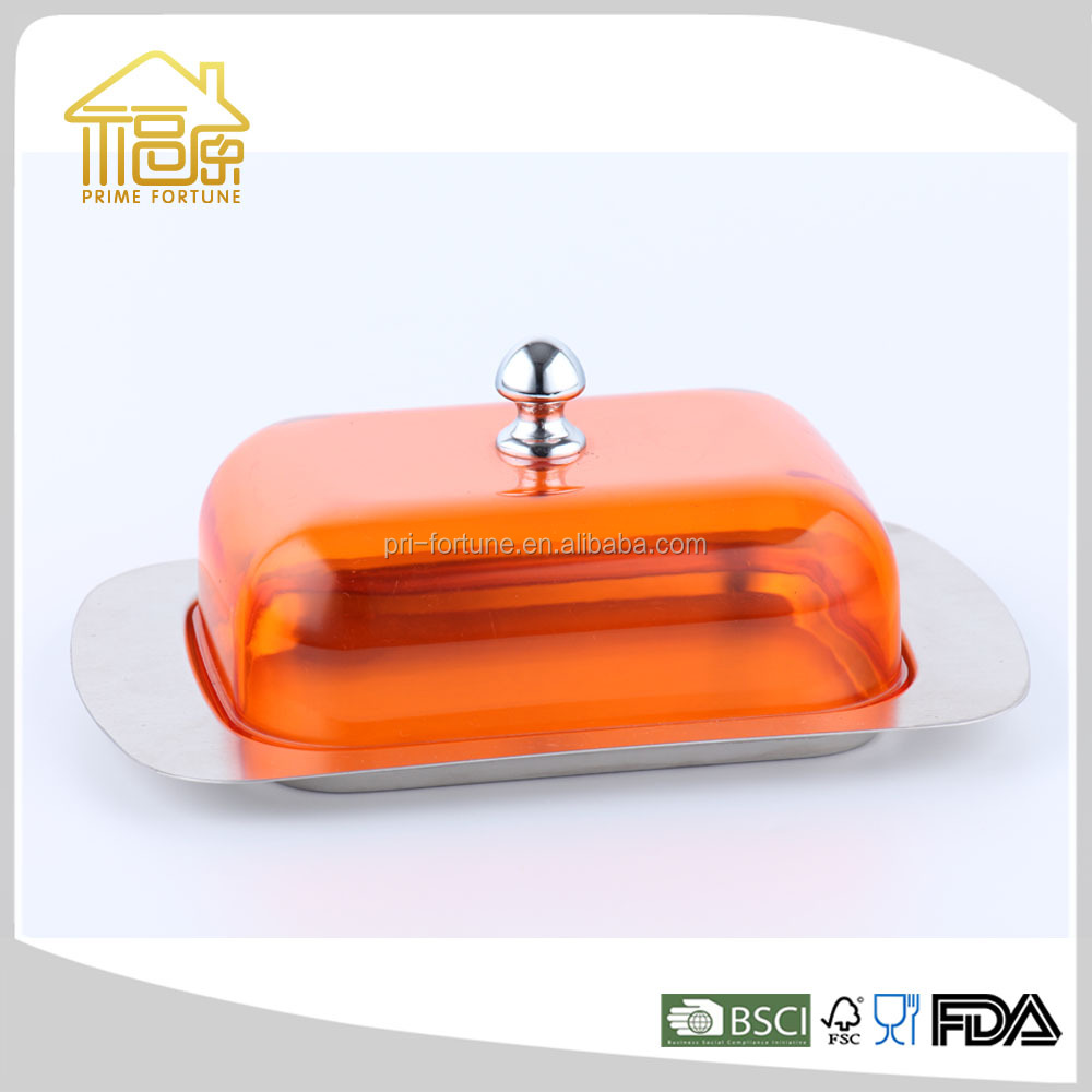 Various Stainless Steel Butter Dish Butter Plate Butter Container with Stainless Steel Plastic Ceramic Lid