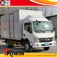 EURO 4 4x2 103KW 140hp diesel small 3.5ton 3.5 tons cargo trucks for sale /dry cargo box truck van