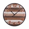 High quality fashion design cheap wood metal wall clock decor
