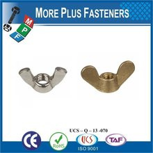Taiwan Stainless Steel 18-8 Copper Brass Aluminum Brass Bolts And Wing Nuts Butterfly Wing Nuts Flange Wing Nuts