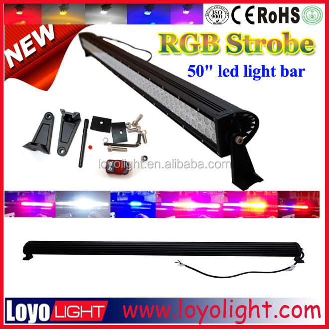 50 inch 288W RGB led light bar halo off road for jeep
