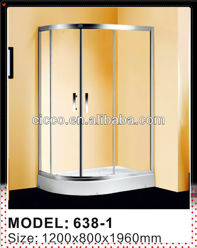 Aluminum Material !! Curved Glass Shower Enclosure/Bathroom Shower Enclosures