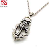 Hot Sale 316L Stainless Steel Cross Pendant Stainless Steel Men Jewelry 2015