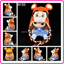 hand knitted children crochet animal hats crocheted tiger hats