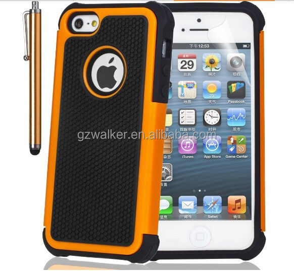 Factory Price High Quality Fashionable design Cell Phone Rugged Case with Football Lines for iphone 4 4s