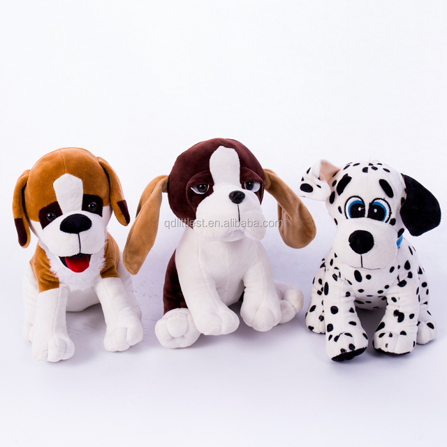 Cute Popular embroidery eyes dog shape plush toys for kids ,Long ears stuffed dog toys for gift