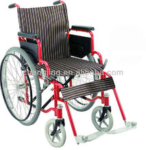 Foldable Plastic-spayed Wheelchair with Movable Armrest
