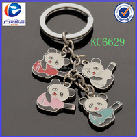 2014 china alibaba supplier cheap custom metal material cute panda keychain