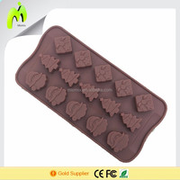 Christmas chocolate mold manufacturing baking and pastry tools Silicone manufacturing