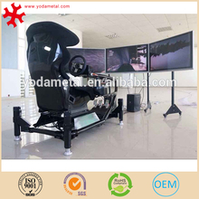 Virtual 4D game machine racing car simulator for driving practice