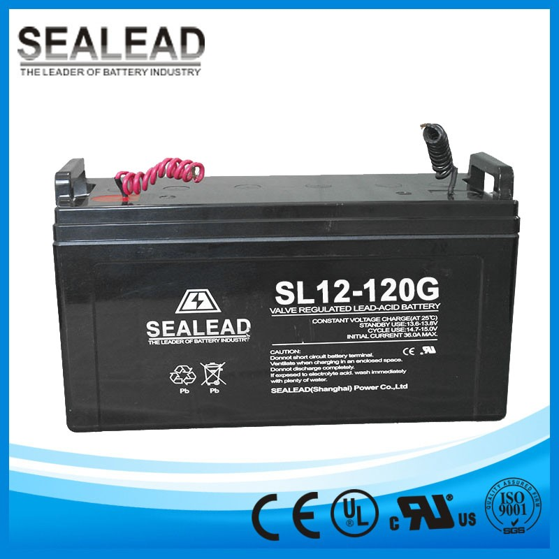 Middle model series 12v120ah AGM rechargeable storage gel battery