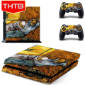 For PS4 Console Gamepad Vinyl Skin Sticker Cozy Paint of Van Gogh