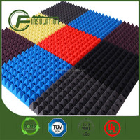 Acoustic Insulation Pyramid Shape Fireproofing PU Foam